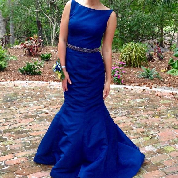 Sherri Hill Dresses Midnight Blue Trumpet Prom Dress Poshmark
